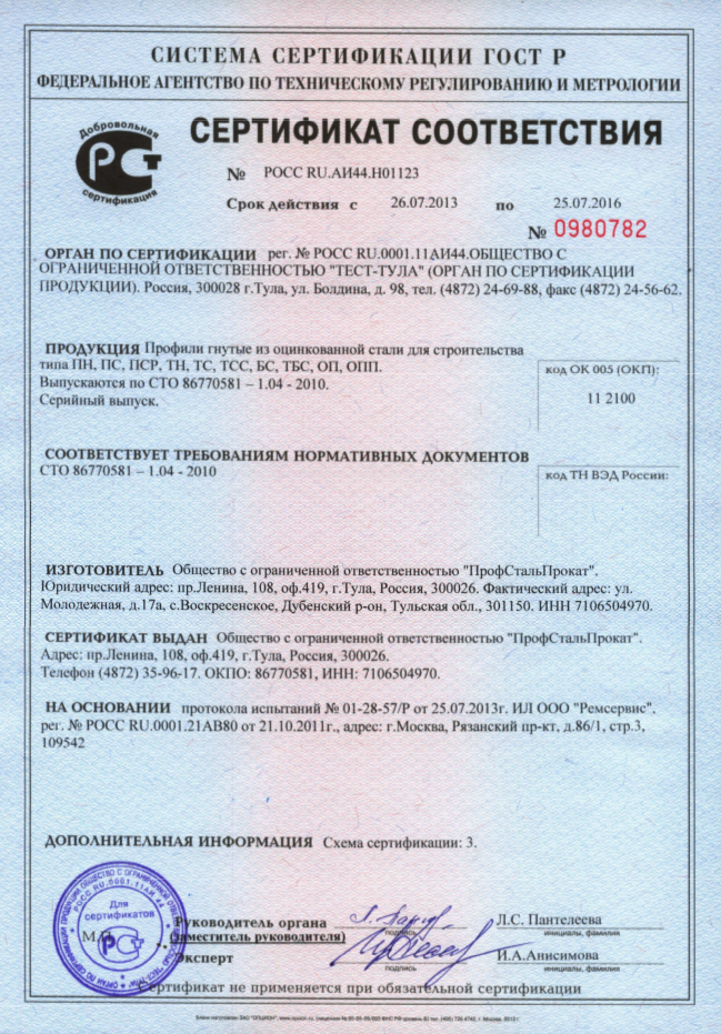 Сертификат соответствия гост 14918-80 сертификация lpi санкт-петербург